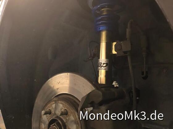 AP-Gewindefahrwerk eingebaut