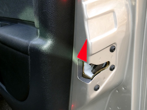 LED Türwarnleuchten eingebaut