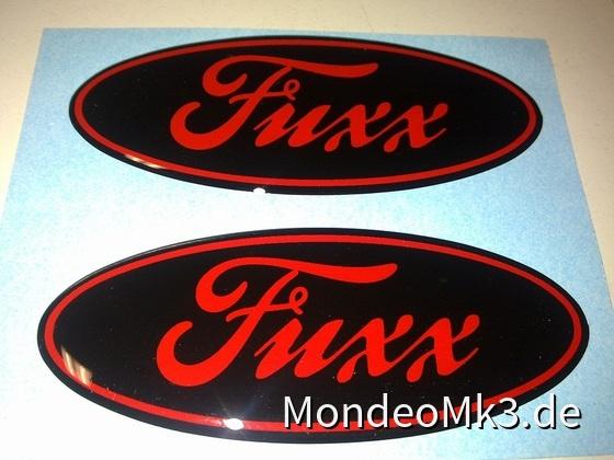 "Gel-Pflaume ""Fuxx"" schwarz-rot"