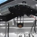 01 Wischermotor Draufsicht eingebaut