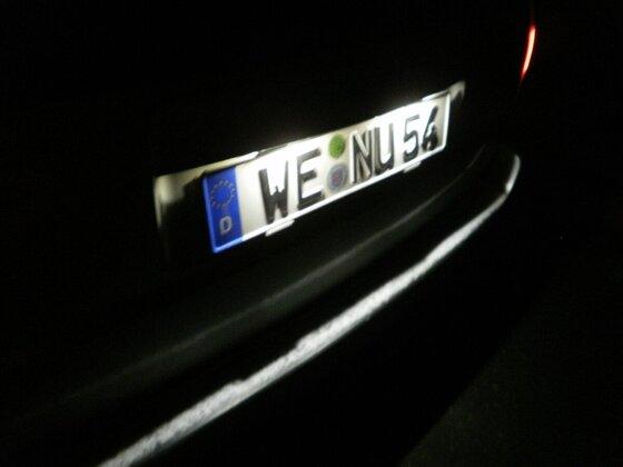 Kennzeichenbeleuchtung BMW