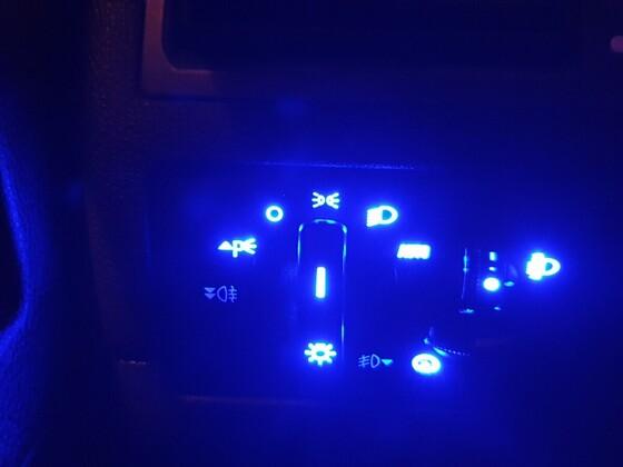 Lichtschalter Blau