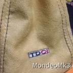 Schaltsack Alcantara mit TDCi-Sticklogo